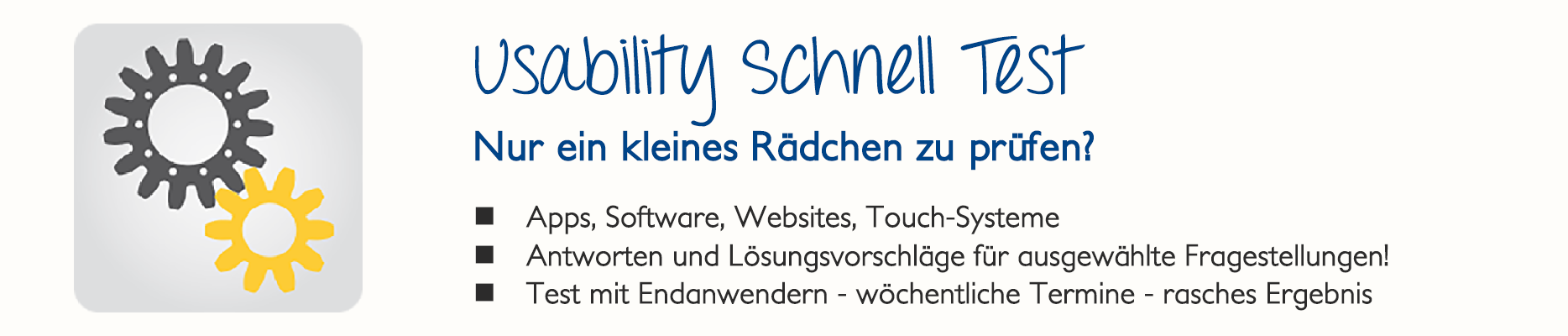 Usability-Schnell-Test
